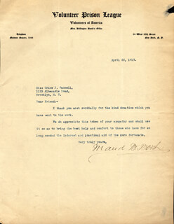 MAUD BALLINGTON BOOTH - TYPED LETTER SIGNED 04/22/1913