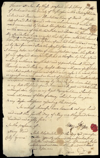 WILLIAM GREENE - MANUSCRIPT DOCUMENT SIGNED 05/04/1784 CO-SIGNED BY: SAMUEL WARD