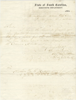 Autographs: MAJOR GENERAL WILLIAM W. ALLEN - MANUSCRIPT LETTER SIGNED 02/21/1865