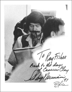 LEROY NEIMAN - AUTOGRAPHED INSCRIBED PHOTOGRAPH 1997