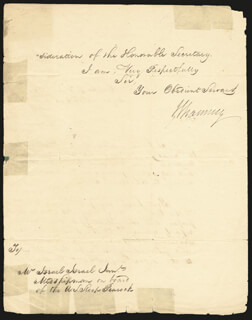 COMMODORE ISAAC CHAUNCEY - MANUSCRIPT LETTER SIGNED 07/14/1817