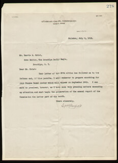 Autographs: MAJOR GENERAL GEORGE W. GOETHALS - TYPED LETTER SIGNED 07/15/1913