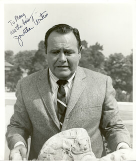 JONATHAN WINTERS - AUTOGRAPHED INSCRIBED PHOTOGRAPH