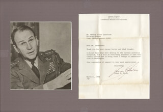 LT. GENERAL JAMES M. GAVIN - TYPED LETTER SIGNED 03/11/1968