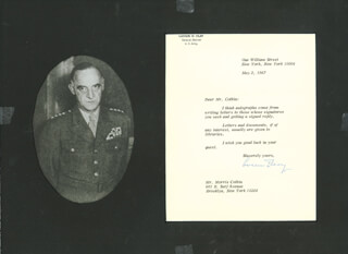GENERAL LUCIUS D. CLAY - TYPED LETTER SIGNED 05/02/1967