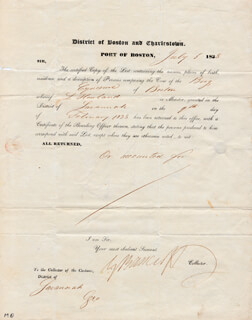 Autographs: GEORGE BANCROFT - DOCUMENT SIGNED 07/05/1838