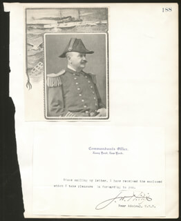 ADMIRAL JOHN W. PHILLIP - TYPED LETTER SIGNED