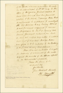 MAJOR GENERAL PHILIP JOHN SCHUYLER - AUTOGRAPH LETTER SIGNED 03/20/1795