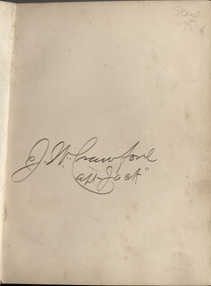 Autographs: CAPTAIN JACK THE POET SCOUT CRAWFORD - BOOK SIGNED CIRCA 1886