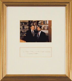 PRESIDENT RONALD REAGAN - INSCRIBED SIGNATURE