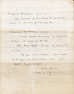 BRIGADIER GENERAL MARCUS J. WRIGHT - AUTOGRAPH LETTER SIGNED 11/10/1880