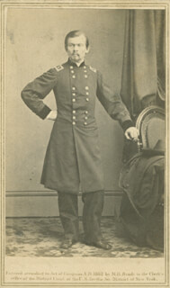 MAJOR GENERAL FRANZ SIGEL - PHOTOGRAPH UNSIGNED