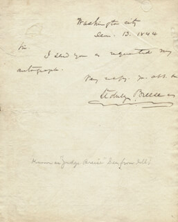 SIDNEY BREESE - AUTOGRAPH LETTER SIGNED 06/13/1844