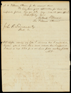 PRESIDENT MILLARD FILLMORE - AUTOGRAPH LETTER DOUBLE SIGNED 07/05/1845