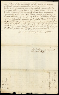 Autographs: BENADAM GALLUP - AUTOGRAPH DOCUMENT SIGNED 12/28/1779
