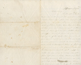 Autographs: CIVIL WAR - ALL - AUTOGRAPH LETTER SIGNED 07/25/1862