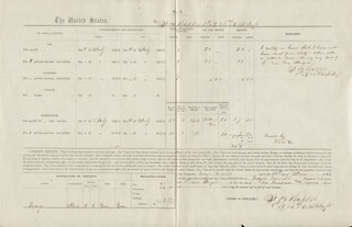 CIVIL WAR - UNION - RECEIPT SIGNED 08/01/1864 CO-SIGNED BY: J. H. WALKER