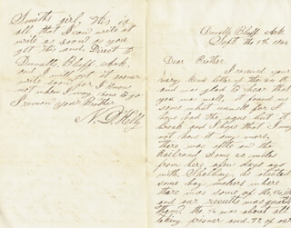Autographs: N. D. KELLY - AUTOGRAPH LETTER SIGNED 09/01/1864 CO-SIGNED BY: CIVIL WAR - ALL