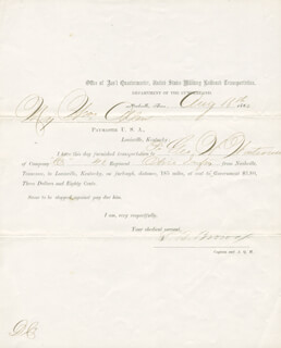 CIVIL WAR - UNION - DOCUMENT SIGNED 08/16/1864