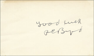 REAR ADMIRAL RICHARD E. BYRD - AUTOGRAPH SENTIMENT SIGNED