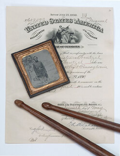 Autographs: HENRY R. WENTZEL - COLLECTION WITH CIVIL WAR - UNION, CIVIL WAR - ALL, CHRISTIANN WENTZEL, CAPTAIN THOMAS C. STEELE, JOHN C. WENDT
