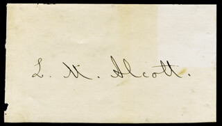 Autographs: LOUISA MAY ALCOTT - COLLECTION WITH AMOS BRONSON ALCOTT