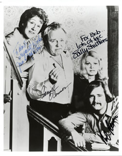 Autographs: ALL IN THE FAMILY TV CAST - INSCRIBED PHOTOGRAPH SIGNED CO-SIGNED BY: CARROLL O'CONNOR, ROB REINER, JEAN STAPLETON, SALLY STRUTHERS