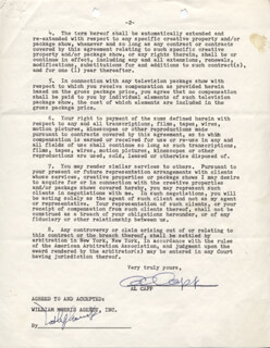 AL CAPP - DOCUMENT SIGNED 10/14/1961