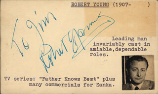 ROBERT YOUNG - INSCRIBED SIGNATURE