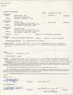 VERONICA HAMEL - DOCUMENT DOUBLE SIGNED 09/08/1978