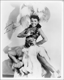 LENA HORNE - AUTOGRAPHED SIGNED PHOTOGRAPH