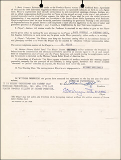 CAROLYN JONES - CONTRACT SIGNED 06/05/1956