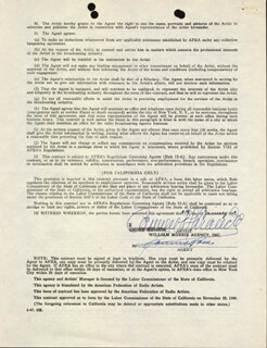 CARMEN MIRANDA - CONTRACT SIGNED 01/10/1949