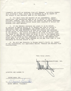 WAYNE NEWTON - DOCUMENT SIGNED 03/03/1981