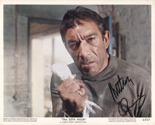 ANTHONY QUINN - LOBBY CARD SIGNED