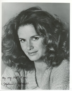 STEPHANIE ZIMBALIST - AUTOGRAPHED SIGNED PHOTOGRAPH