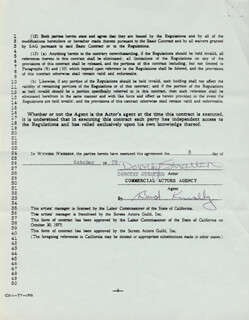 DOROTHY STRATTEN - CONTRACT DOUBLE SIGNED 10/08/1979