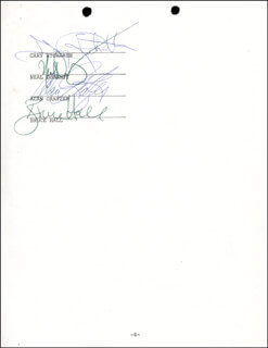 REO SPEEDWAGON - DOCUMENT SIGNED 02/28/1984 CO-SIGNED BY: REO SPEEDWAGON (KEVIN CRONIN), REO SPEEDWAGON (GARY RICHRATH), REO SPEEDWAGON (NEAL DOUGHTY), REO SPEEDWAGON (ALAN GRATZER), REO SPEEDWAGON (BRUCE HALL)