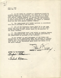 STEVE GARVEY - DOCUMENT SIGNED 06/01/1981