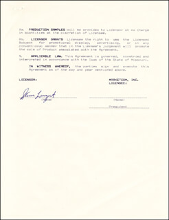STEVE LARGENT - DOCUMENT SIGNED 06/01/1987
