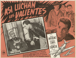 PURPLE HEART MOVIE CAST - LOBBY CARD UNSIGNED (MEX) 1944