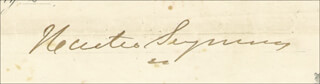 Autographs: GOVERNOR HORATIO SEYMOUR - DOCUMENT SIGNED 01/24/1863
