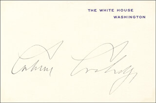 Autographs: PRESIDENT CALVIN COOLIDGE - COLLECTION WITH FIRST LADY GRACE COOLIDGE