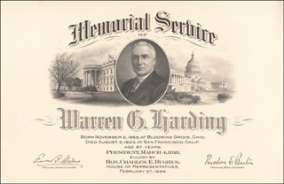 PRESIDENT WARREN G. HARDING - COLLECTION