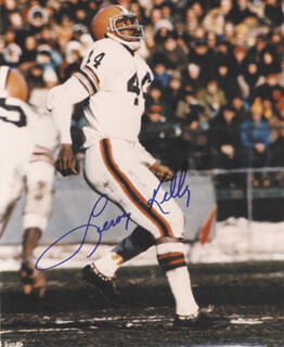 LEROY KELLY - AUTOGRAPHED SIGNED PHOTOGRAPH