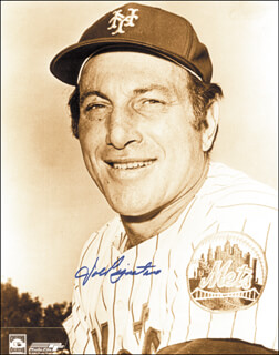 JOE PIGNATANO - AUTOGRAPHED SIGNED PHOTOGRAPH