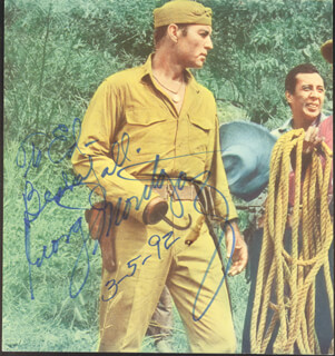 GEORGE MONTGOMERY - AUTOGRAPHED INSCRIBED PHOTOGRAPH 03/05/1992