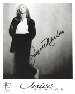 JUICE NEWTON - AUTOGRAPHED SIGNED PHOTOGRAPH