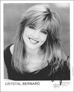 CRYSTAL BERNARD - PRINTED PHOTOGRAPH SIGNED IN INK