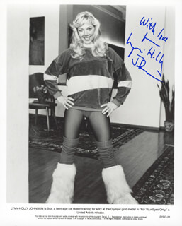LYNN-HOLLY JOHNSON - AUTOGRAPHED SIGNED PHOTOGRAPH